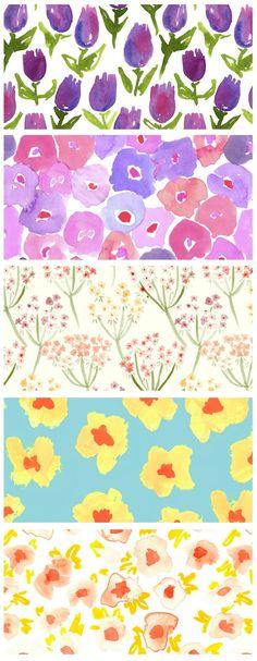 Lovely watercolor florals by Leah Goren (discovered via eat drink chic http://www.eatdrinkchic.com/post.cfm/leah-goren)