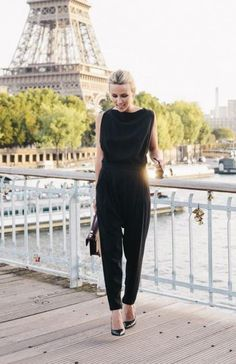 A chic jump suit is a contemporary alternative to the LBD and a fresh choice for winter wedding attire. #winter #style