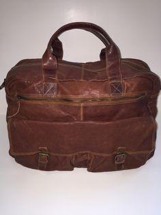 GAZ weekend bag washed leather