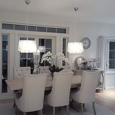 Interesting Grey And White Dining Room Find This Pin More On With Design Ideas