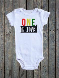 First Birthday onesie/ Reggae Onesie/ Baby girl onesie/ Baby Boy onesie/ 1st birthday outfit/ One and loved/ ONE LOVE/ Bob Marley onesies by BeutiqueCreations on Etsy