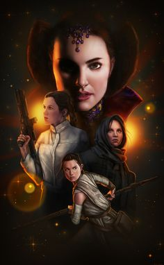 Star Wars girls - Star Wars Women - Ideas of Star Wars Women women - Star Wars girls Star Wars Film, Star Wars Poster, Star Wars Padme, Rey Star Wars, Star Trek, Star Wars Quotes, Star Wars Humor, Geeks, Tableau Star Wars