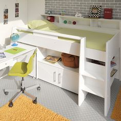 Rylie - Midsleeper WHITE | Childrens Beds | Bedroom