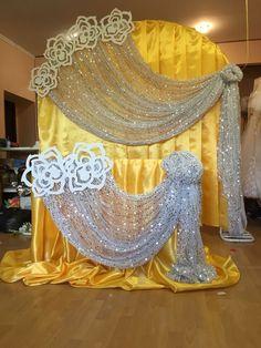 yellow wedding with silver - Vladivostok - 89089835203 Arch decoration, Stage decorations, Backdrop ideas, Backdrops, . Arch Decoration, Backdrop Decorations, Backdrop Ideas, Diy Wedding Backdrop, Wedding Stage Decorations, Yellow Wedding, Wedding Colors, Luxury Wedding Decor, Mehndi Decor