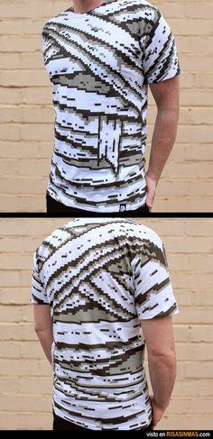 La camiseta de 8 bits que quieres tener. 8 Bits, Textiles, Cool Tees, Funny Tshirts, Stamping, Hip Hop, Tights, Geek Stuff, Menswear