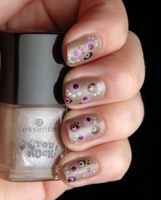 dotting, must remember this one!!! I just got a new brown that this would look HOT with!