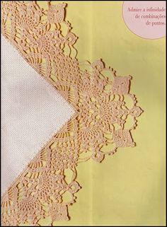 Crochet edgings & graphs- CROCHE COM RECEITAS