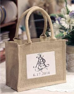 4ab1dcc91 Rustic Mini Burlap Jute Bags - Wedding Party Favor Bags
