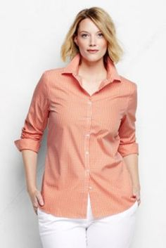 #preppy #plussize gingham shirt.
