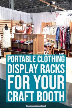 How to display handmade clothing at craft shows with lots of clothing display rack for your booth. Craft Show Booths, Craft Booth Displays, Retail Displays, Display Ideas, Portable Clothes Rack, Clothes Stand, Clothes Racks, Selling Handmade Items, Selling Crafts