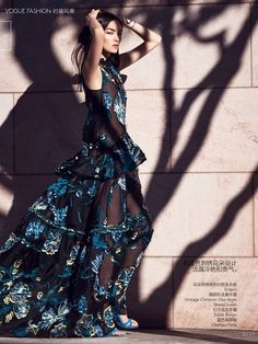 Fei Fei Sun by Nathaniel Goldberg for Vogue China March 2015 erdem