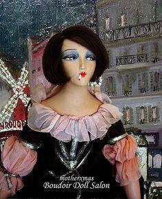 french  smoker boudoir doll