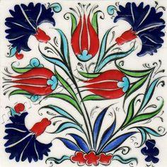 Osmanlı Saray Çinileri İznik Duvar Panoları Turkish Tile Art Karoları Ceramic Mosaic Tile, Clay Tiles, Ceramic Decor, Ceramic Design, Ceramic Art, Islamic Tiles, Islamic Patterns, Turkish Art, Ceramic Figures