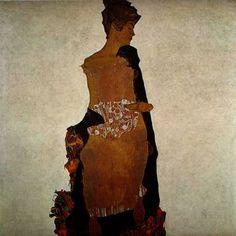 Portrait de Gerta Schiele - (Egon Schiele)