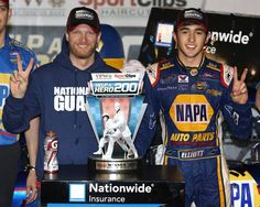 4-11-14 at Darlington--Chase Elliott wins his second race in a row for JRMotorsports