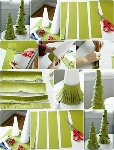 Making a Christmas tree for the new year Diy Craft Projects, Kids Crafts, Christmas Crafts For Kids, Homemade Christmas, Holiday Crafts, Christmas Decorations, Tree Crafts, Cone Christmas Trees, Christmas Makes