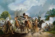 """AWI British: The Assault at Waxhaws, by Werner Willis. This unit of Loyalists acquired their reputation for ferocity after overtaking a small patriot force in the Waxhaws and virtually annihilating them. Lieutenant Colonel Banastre Tarleton, the unit commander, became known as """"Bloody Ban, the butcher of the Waxhaws."""" The mere mention of the unit struck terror into the very souls of patriot militia."""