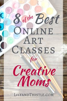 Don't miss these awesome online art class resources! Great for Creative Moms who are short on time. 8 of the Best Online Art Classes for Creative Moms Indoor Activities For Kids, Crafts For Kids, Arts And Crafts, Family Activities, Art Activities, Creative Skills, Creative Crafts, Lessons For Kids, Art Lessons