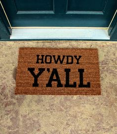 LOVE this doormat!