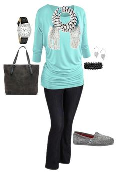 """Plus Size Outfit, Plus Size Fashion"" by jmc6115 on Polyvore featuring Old Navy, Sperry Top-Sider, TOMS, Geneva, Fall, casual and plussize"