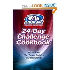 Advocare 24 Day Challenge Cookbook!  Be aware of the oils used. Try to stay away from all oils for optimal results especially in phase 1 (days 1-10).   http://www.advocare.com/121122896