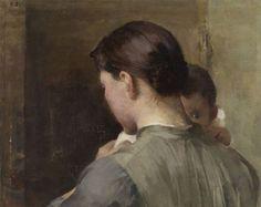 Helene Schjerfbeckin Raaseporin maisema -teoksen alta löytynyt aiemmin  tuntematon maalaus on nyt ripustettu osaksi taiteilijan  150-vuotisjuhlanäyttelyä Ateneumissa. Naista ja lasta esittävä  maalaus on sen paljastamisen jälkeen konservoitu Valtion taidemuseon  konservointilaitoksella tällä viikolla.