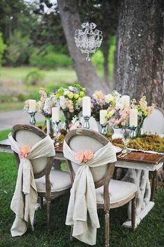 Romantic, Gorgeous outdoor wedding