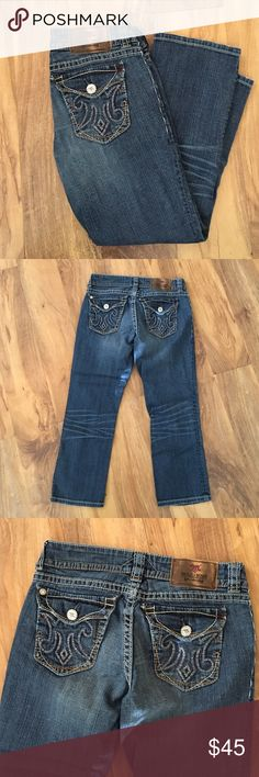 MEK DNM new mazatlan Capri size 26 These are MEK DNM denim capris in the style New Mazatlan Capri. Purchased from Buckle. Excellent used condition! Not worn very many times😊 size 26. Capri has small amount of distressing on the leg. Button pockets on the back. MEK Pants Capris