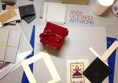 Il tavolo delle creazioni di Anita.