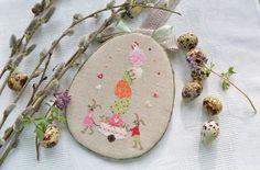 Easter Bunny Chicken Egg Decoration Cross Stitching / Kreuzstich Ostern Hase Osterhase Ei Huhn Dekoration