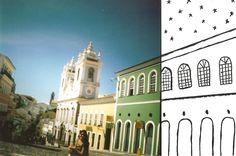 pelourinho+ilustração+fotografia analógica= <3