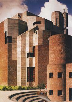 Parish Church of the Resurrection of Christ, Melaten, Germany, 1964-70 (Gottfried Böhm) #ConcreteLove