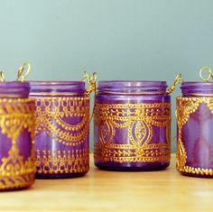 Jars turned Moroccan Lanterns @Gabriella Soto