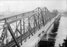 Alexandra Bridge, seen from Nepean Point (Ottawa), [n. Ottawa, Williams James, Photo Archive, Historical Photos, Ontario, Canada, Bridges, Trains, Urban