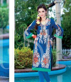 Plush Embroidered Kurtis Eid Collection by Riaz Arts EK_40