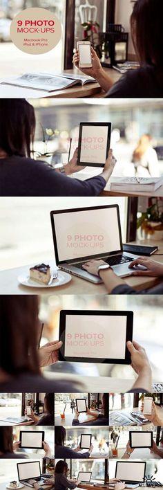 9 photo mock-ups - devices - vol.2