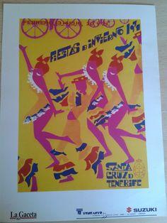 Cartel de las Fiestas de Invierno de Santa Cruz de Tenerife, año 1971