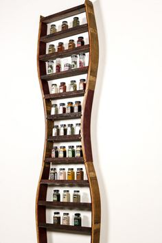 """New to winecountrycraftsman on Etsy: SPICE RACK - """"Cumin 2"""" -- Extra Extra Large Spice Rack made from 100% recycled Napa wine barrels (400.00 USD)"""