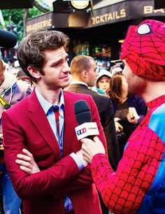 Andrew Garfield at the premiere of The Amazing Spider-Man 2