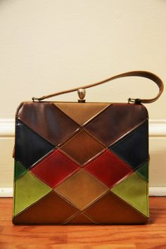 Leather Patchwork Purse by eentrok on Etsy, $12.50