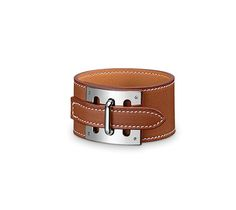 Intense Hermes leather bracelet (size L) Natural barenia calfskin $550US
