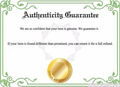 Certificate of merit template free to customize download print authenticity guarantee template free certificate templates you can add text images borders yadclub Images