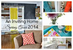 Spring Home Tour from An Inviting Home Inviting Home, Dining Decor, Parade Of Homes, Home Trends, Diy Home Crafts, Spring Home, Decorating Blogs, Home Improvement Projects, House Tours