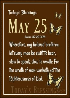 James 1 19, Slow To Speak, Righteousness Of God, Every Man, Blessed, Let It Be, Day