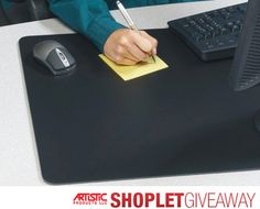 Shoplet.com is giving away a 4 Artistic Rhinolin II Desk Pads with Microban! Here's how to win: Follow Shoplet on Pinterest, repin this post, go to the Shoplet Blog before June 8th and tell us why you want this new amazing desk pad! #giveaways