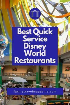 When dining at Walt Disney World, you'll have lots of restaurant options. Quick service restaurants can be a great flexible option, because you won't need a reservation and can go at any time. You can also use the Disney Dining Plan at Quick Service restaurants. Here are the best quick service Disney restaurants in our experience. Disney World Restaurants, Disney World Parks, Walt Disney World Vacations, Magic Kingdom Quick Service, Animal Kingdom Restaurants, Disney Dining Plan, Disney Springs, Disneyland Paris
