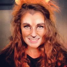 Lion Halloween makeup. Done by Mac