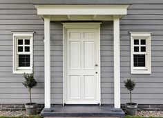 CEDRAL® siding, cladding for good-looking houses. Easy to install, simple … - Eingang House Cladding, Timber Cladding, House Front Door, My House, Modern Bungalow Exterior, Contemporary Garage Doors, Outdoor Rooms, Outdoor Decor, Garage Door Design