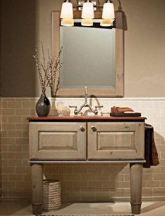 Фотография: Ванная в стиле Кантри, Интерьер комнат, Ванна, красивая ванная, маленькая ванная комната, идеи для ванной комнаты – фото на InMyRoom.ru