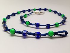 Seattle Seahawks COLORS necklace.  Green by JewelryByTerriB #jewelryonetsy #necklace #jewelry